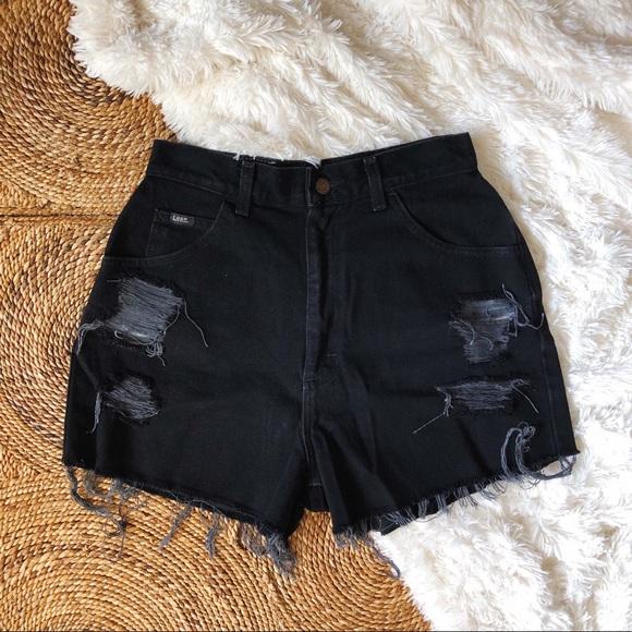 1edaacd6dc Vintage Shorts   Vtg Lee Distressed High Rise Mom Jean   Poshmark